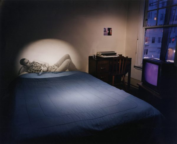 "Shimon Attie, UNTITLED MEMORY (SLIDE PROJECTION OF AXEL H.) 1998 Chromogenic photograph, 40 x 47"" Image courtesy of Jack Shainman Gallery, New York"