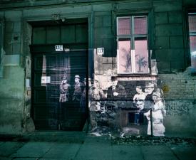<em>Linienstrasse 137: Slide projection of police raid on former Jewish residents, 1920, Berlin</em>, 1992