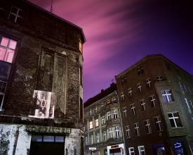 <em>Joachimstrasse/corner Auguststrasse: Slide projection of Jewish resident, 1931, Berlin</em>, 1992